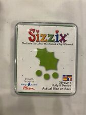 New listing Sizzix Original Small Green Holly & Berries Scrapbooking Die 38-0244