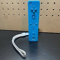 Official OEM Nintendo Wii Remote Motion Plus Controller RVL-036 Blue Tested!!