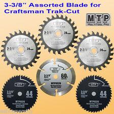 6x 3-3/8-inch Carbide/Diamond/HSS Circular Saw Blade fit Craftsman Trak Cut 3/8