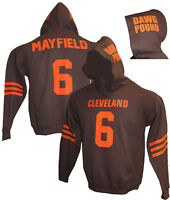 MENS Customized BROWN Hoodie, Any name number,Baker Mayfield,Tshirt,Jersey