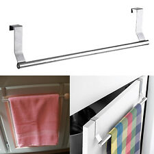 Over Cabinet Towel Dish Cloth Bar Rack Holder Door Mount Steel Kitchen Organizer