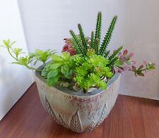 Set of 4 Artificial succulents plants Burgeon Flower Grass Immortal column