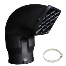 """3.5"""" inch universal snorkel air ram intake head off road replacement free clamp"""