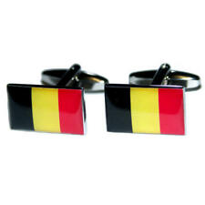 Black, Yellow & Red Belgium Cufflinks With Gift Pouch Belgian Country Flag New