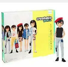 Creatable World Deluxe Character Kit Customizable Doll, Black Hair Dc-073