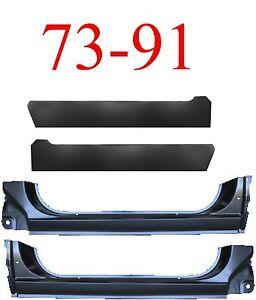 4Pc 73 91 Chevy Blazer Extended Rocker & Inner Rocker Panel, GMC Jimmy Suburban