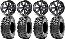 "MSA Black Kore 14"" UTV Wheels 32"" Rampage Tires Can-Am Maverick X3"