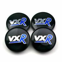 4x 60mm VXR Schwarz Blau Nabendeckel Felgendeckel für Vauxhall