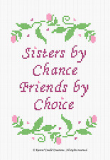 Crochet Patterns - SISTERS BY CHANCE FRIENDS BY CHOICE Graph afghan PATTERN