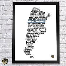 Argentina National Soccer Team Poster - Messi, Maradona, Tevez, Zanetti, Higuain