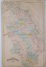 1879 Original Map Plymouth County MA Mass Atlas Marshfield Duxbury Scituate Hull