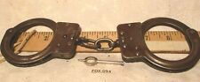 VINTAGE CROCKETT & KELLY Police Handcuffs with Key Excellent Patina