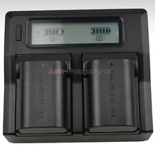 Dual LCD Charger +2x Battery for Canon LP-E6N LPE6 EOS 5D 6D 7D Mark 2/3 70D 80D