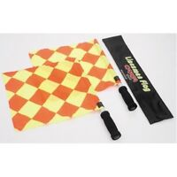 Cartasport Quality Delux Linesman Referee Flags Sticks Foam Handles With Case.