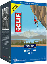 Clif Bar 160678 Energy Bar Chocolate Chip 2.4oz 18 Pieces