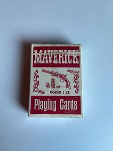 Vintage Maverick Playing Cards - Poker Size- Linen Finish-Sealed- By Stancraft