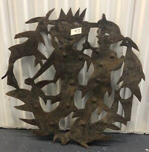 Original Haitian Oil Drum Metal Sculpture Signed Louis