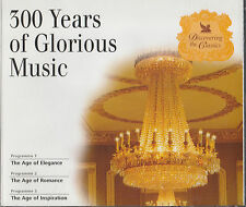 3 COMPACT DISC SET - 300 YEARS OF GLORIOUS MUSIC - ELEGANCE  ROMANCE INSPIRATION