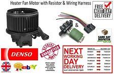 New Denso Heater Fan Motor & Wiring Harness & Resistor Vauxhall Combo Van 2012 >