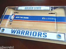 1 Golden State Warriors Chrome Auto License Plate Frame
