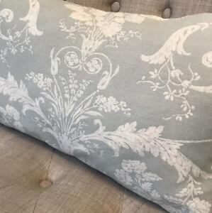 """12x16"""" Handmade cushion cover In Laura Ashley Josette Duck Egg/Austen Off White"""