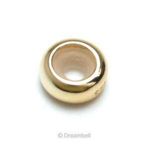 Gold Plated on STR Silver Stopper W/ Rubber Bead For European Charm Bracelet