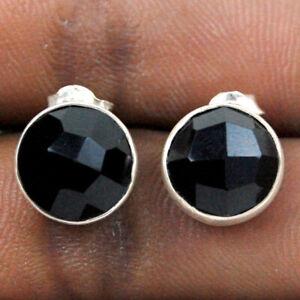 925 Sterling Silver Black Onyx Handmade Earrings Xmas Gift Women ES-1113
