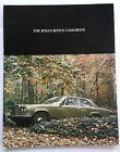 1976 Rolls Royce Camargue Coupe Original Car Sales Brochure Catalog