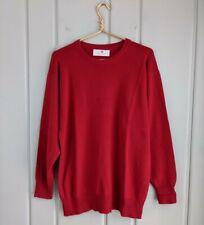 Ballantyne 44 Mens XL Sweater 100% Cashmere Red  Pullover Crew Neck Scotland