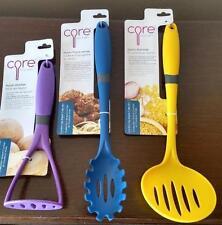 Core Kitchen Comfort Grip Brights 3 pc Set Nylon Pasta Server Skimmer Masher