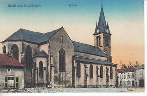 Ansichtskarte Lothringen  Ueckingen  Kirche