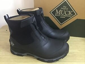Muck Boots Apex Mid Zip Boots Wellies Black/Grey Size UK 10 EU44/45