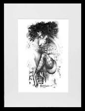 Female Nude / Woman In Stockings / LE Print of Original Watercolour by Hahonin