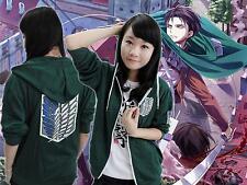 Anime Attaque sur Titan, veste verte, COS, veste à manches longues ,Unisexe!