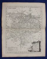 Original antique map HUNTINGDONSHIRE, J.Ellis, W. Palmer, c.1765