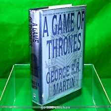 Signed A GAME OF THRONES by George RR Martin 1996 1st/1st Hardcover NEAR FINE