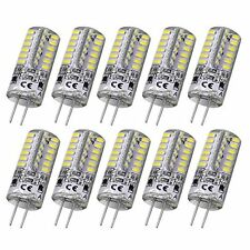 Rayhoo 10pcs G4 Base 48 LED Light Lamp 3 Watt DC 12V White Bulb Undimmable to T3