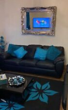 3 Seater + (x2) 1 seater sofa & Black