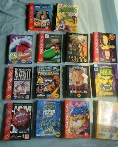 Lot of 14 Original Cover Art Sega Genesis  Hulk Golden Axe 2 Rocketknight & more