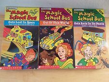 Lot 3 VHS Videos Scholastic The Magic School Bus Ms Frizzle Space Ants Astroids
