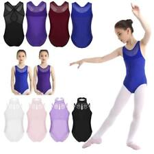 Girls Ballet Gymnastics Leotards Toddlers Dance Mesh Splice Jumpsuits Dancewear