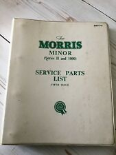 MORRIS MINOR SERIES  II And 1000  Service Parts List Fifth Issue BMC AKD 743