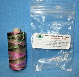 Valdani Cotton Embroidery Thread Lilac Garden Variegate V102