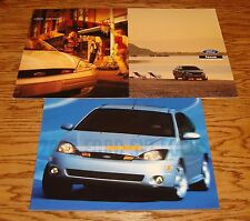 2000 & 2002 Ford Focus Sales Brochure Lot of 3 SVT 00 02