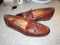 NICE Cole Haan Mens Size 11.5 N Tassel Red Wood Low Dress Loafers MADE IN Italy