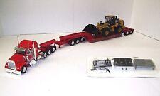 W900L slpr (Viper Red) 4 axle w/3 axle XL Lowboy w/Jeep w/CAT 966K XE Loader Set