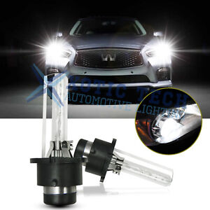 D2S HID Xenon Headlight Bulbs For Infiniti G35 2005-08 G37 2008-14 Coupe Sedan
