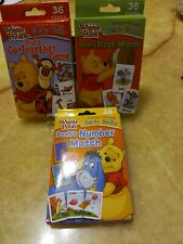 Flash Cards Winnie Pooh Early Skills Lot of 3 sets - Matching & Words