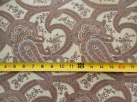 "By 1//2 Yd Lavender /& Brown on Lt-Brown Cotton M1394 Vintage 1960/'s 37/"" Wide"
