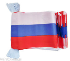 RUSSIA 9 metre FLAG BUNTING Russian Communist 30 flags 30 feet